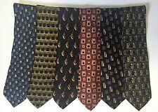 Lot 6 Robert Talbott Studio Men's Neck Ties 100% Silk USA Gray Blue Black Gold