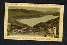 Posted 1940 Birthday Card: Lake & Hills: Happy Friends