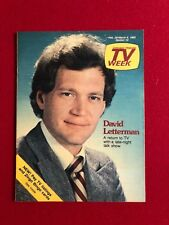 "1982, David Letterman, ""TV Week"" Guide (Scarce)"