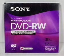 Sony Handycam Blank DVD-RW Camcorder 30 Minute 1.4 GB Disc - NEW
