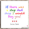Step Dad Christmas Birthday Card Fathers Father's Day Card Funny Humor Card