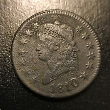 1810/9 Classic Head Large Cent XF Details Extremely Fine Overdate 1c