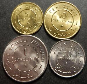 Somalia Complete set 5+10+50 Cents + 1 Shilling 1967 Top grade Rare!