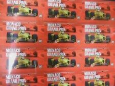 Formula 1 Monaco Grand Prix Racing  uncut card sheet 1990s