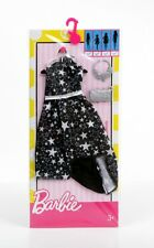 Barbie Doll Fashionistas Clothing Pack Fashion Outfit Black & Stars Party Dress