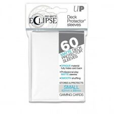 Ultra Pro: Eclipse Deck Protector Sleeves White Mat Mini 60ct Yugioh Brand New