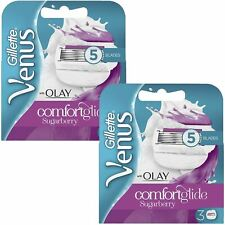 6 x Gillette Venus and Olay Sugarberry Scent Women's Replacement Razor Blades