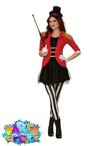 Adult Ladies Ringmaster Costume Greatest Showman Circus Fancy Dress Outfit