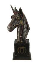 Steampunk Unicorn Bust Antique Bronze Finish Statue
