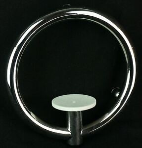 INVISIA LUXURIOUS SOAP DISH INTEGRATED SUPPORT RAIL HAND GRAB BAR CHROME