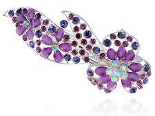 Diamant Violet Full of Strass Fleur Barrette de cheveux accessoires HA147