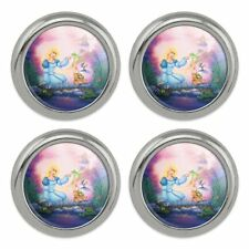 Swan Princess Odette Frog Turtle Puffin Metal Craft Sewing Buttons - Set of 4