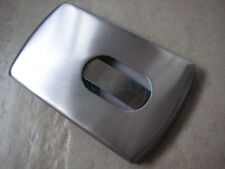 High Quality Solid Stainless Steel Thumb Slider Business Card Holder Case Gift