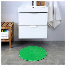 IKEA BADAREN Non-Slip Microfibre Bathroom Round Bath Mat Bathmat Rug 55cm Green