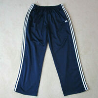 VINTAGE Adidas Tear Away Pants Adult Extra Large Blue White Warm Up Mens 90s A88