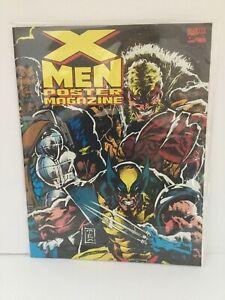 MARVEL COMICS POSTER BOOK X-MEN MAGAZINE # 2 1993 JIM LEE  LIEFELD NM