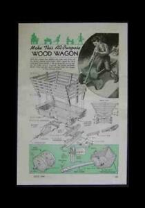 Wooden Coaster Wagon 1944 HowTo build PLANS w/Baby Seat