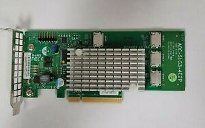 Supermicro AOC-SLG3-4E2P PCIe Add-On Card 6.4GB/s Quad-Port Gen-3 NVMe HBA
