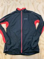 PEARL IZUMI FOR WOMEN SIZE LARGE BLACK PINK CYCLING FULL ZIP ACTIVE JACKET EUC