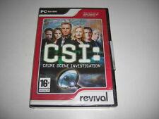 CSI CRIME SCENE INVESTIGATION PC CD ROM REV C.S.I. Nuovo Sigillato-Spedizione Veloce