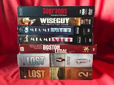 Dvd Tv/Cable Series Lot Lost Miami Vice Sopranos Wise Guy Boston Legal + Bonus