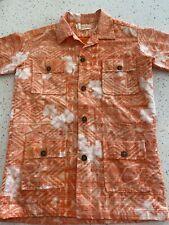 Boys Vintage Maluna Hawaiian Shirt Size 14-16 Aloha Shirt Bark Cloth