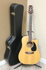 Takamine EF340C Acoustic Electric Guitar Natural w/ Hard Case