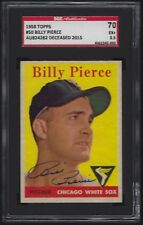 1958 Topps #50 BILLY PIERCE Signed AUTO Chicago White Sox SGC AUTH (SGC 5.5 EX+)