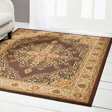 "Brown Medallion Oriental Area Rug 4x6 Persien Border Carpet -Actual 3'6"" x 5' 2"""