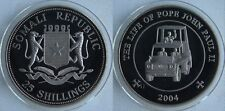 2004 Somalia Large 25 Sh-Pope John Paul II-Popemobile
