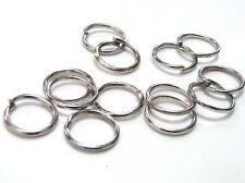 50 Anneaux de jonction argente Mat ouvert 8mm creation bijoux, bracelet Collier