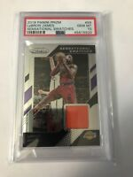 Lebron James Prizm 2018-19 Sensational Swatches PSA 10 Game Used Lakers 1st year