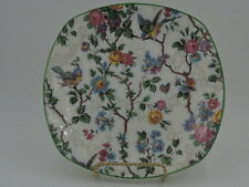 "Vintage Midwinter Chintz Lorna Doone 7.5"" Plate Green Rim Dish"