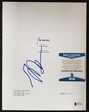 MICKEY ROURKE Signed 8.5 x 11 THE WRESTLER Movie Script Cover~ BAS Beckett COA
