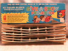 SET J  42 COLOR SLIDES IN THE BOX  FOR A KENNER'S GIVE A SHOW PROJECTOR