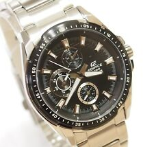 Casio Analog Edifice Gents Dress EF-336DB-1 Watch Black 100% Original + Gift New