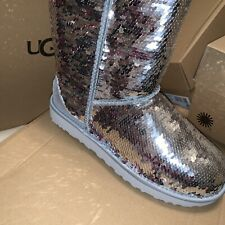 Womens Uggs Sequin Two Color Boots 9