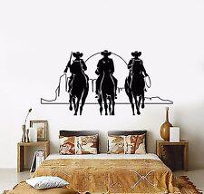 Vinyl Wall Decal Western Cowboys Horses Sunset Movie Cinema Stickers (901ig)