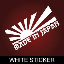 "6"" RISING SUN MADE IN JAPAN Sticker Import Tuner Car Decal Bumper Window JDM ill"