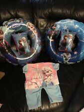 baby girl swimming costume Uv Arm Bands And Rings X2 18-24 Frozen Design Elsa