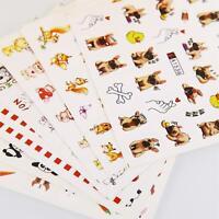 Water Transfer Nail Art Stickers Watermark Decals DIY Decorative Nail Tools FA