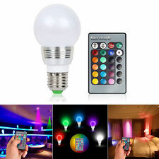 E27 3W LED RGB Light Bulb 16 Multi Color Magic Lamp w Wireless IR Remote Control
