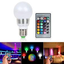3W Colors Changing magic E27 RGB LED Lamp Light Bulb + IR Remote Control EDS