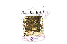 Band Sequins Golden 19 8/12ft Width 0 1/4in - Graine créative
