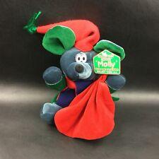 "Collector's Choice MOLLY Bean Bag Friends CHRISTMAS MOUSE PLUSH Stuffed 11"" NWT"
