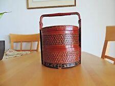 Vintage oriental stacking wedding baskets
