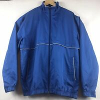 Callaway Golf X Series Full Zip Jacket Vented Mesh Lined Size Large Blue
