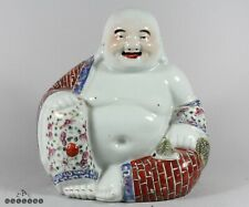 Large Chinese Famille Rose Porcelain Happy Buddha