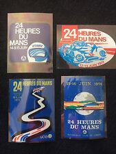 Le Mans 24 Hour Vintage Window Stickers x 4 (1971, 72 &74 & 75) - Porsche