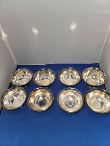 VINTAGE REED AND BARTON Silver Plate PAUL REVERE Small Footed Bowls-SET OF 8